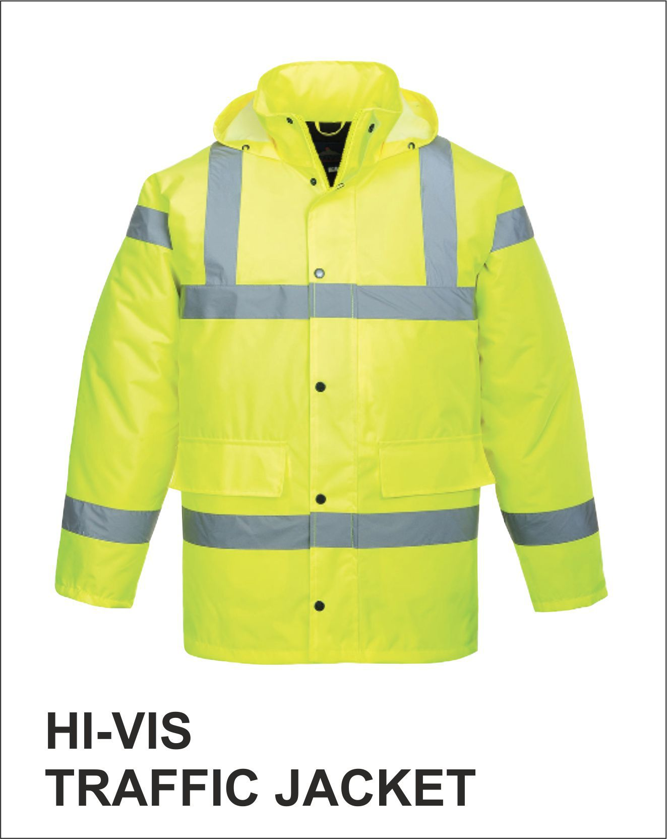 Traffic Jacket Yellow Front