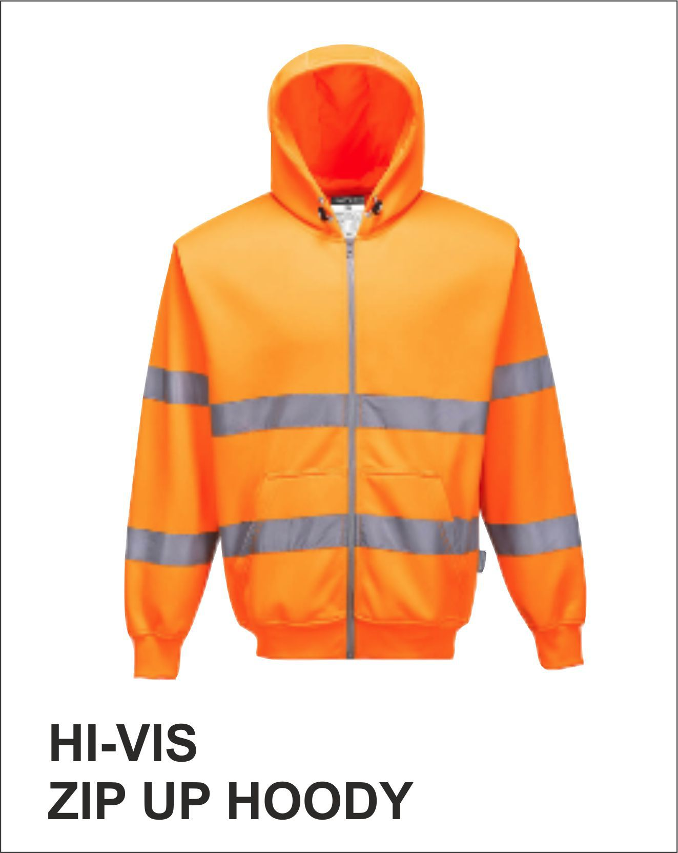 Zip Up Hoody Orange Front