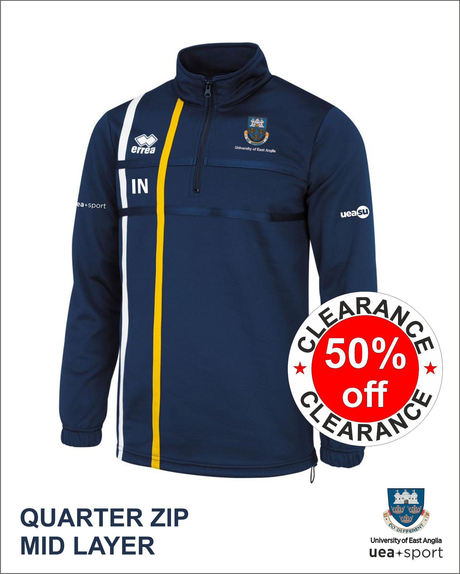 Clearance Quarter Zip Mid Layer