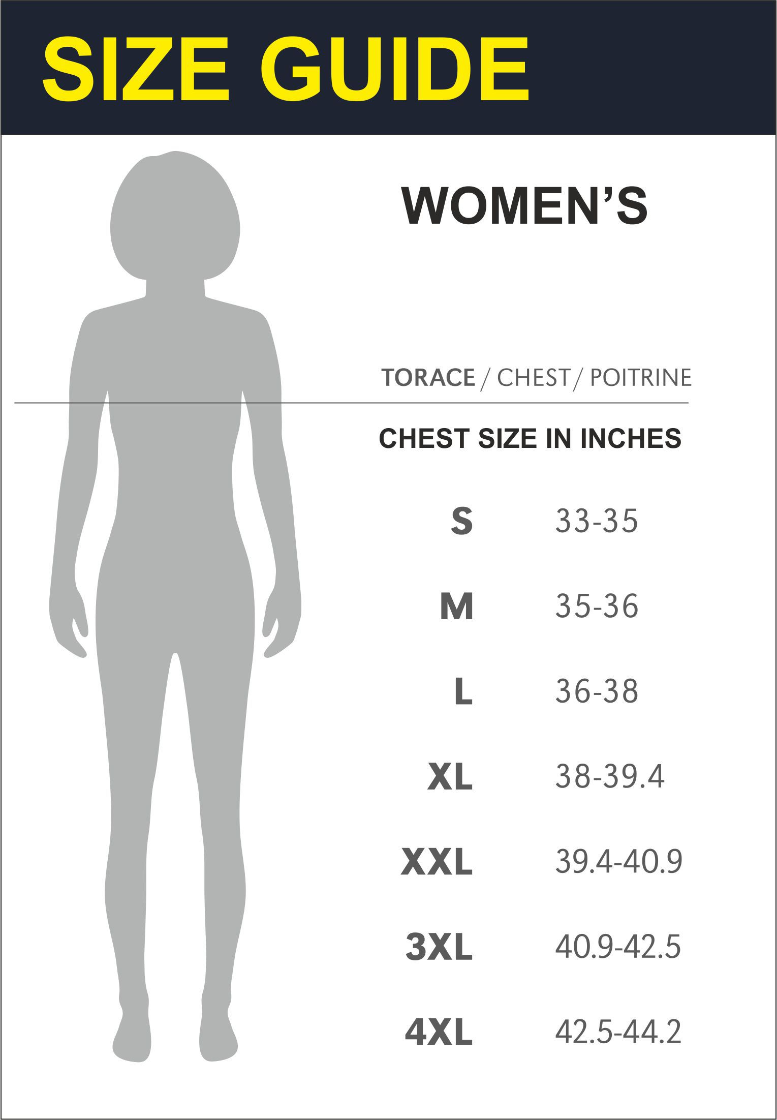 Size Guide Womens Top