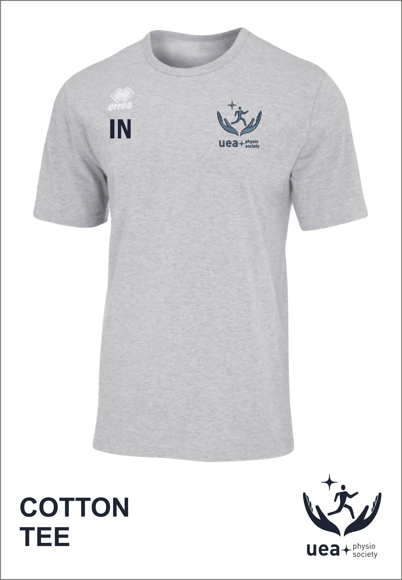 Cotton Tee Front Grey