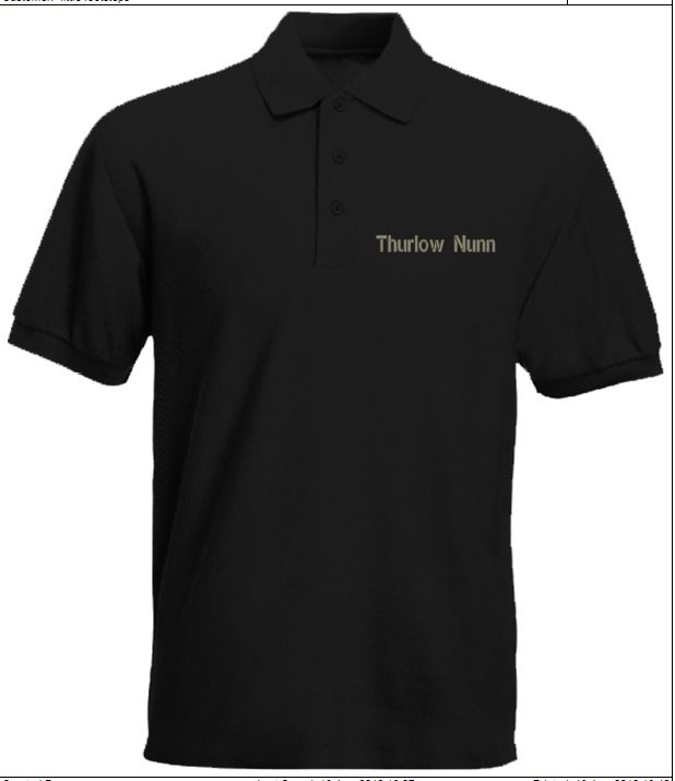 Thulow Nunn Mens Black Polo