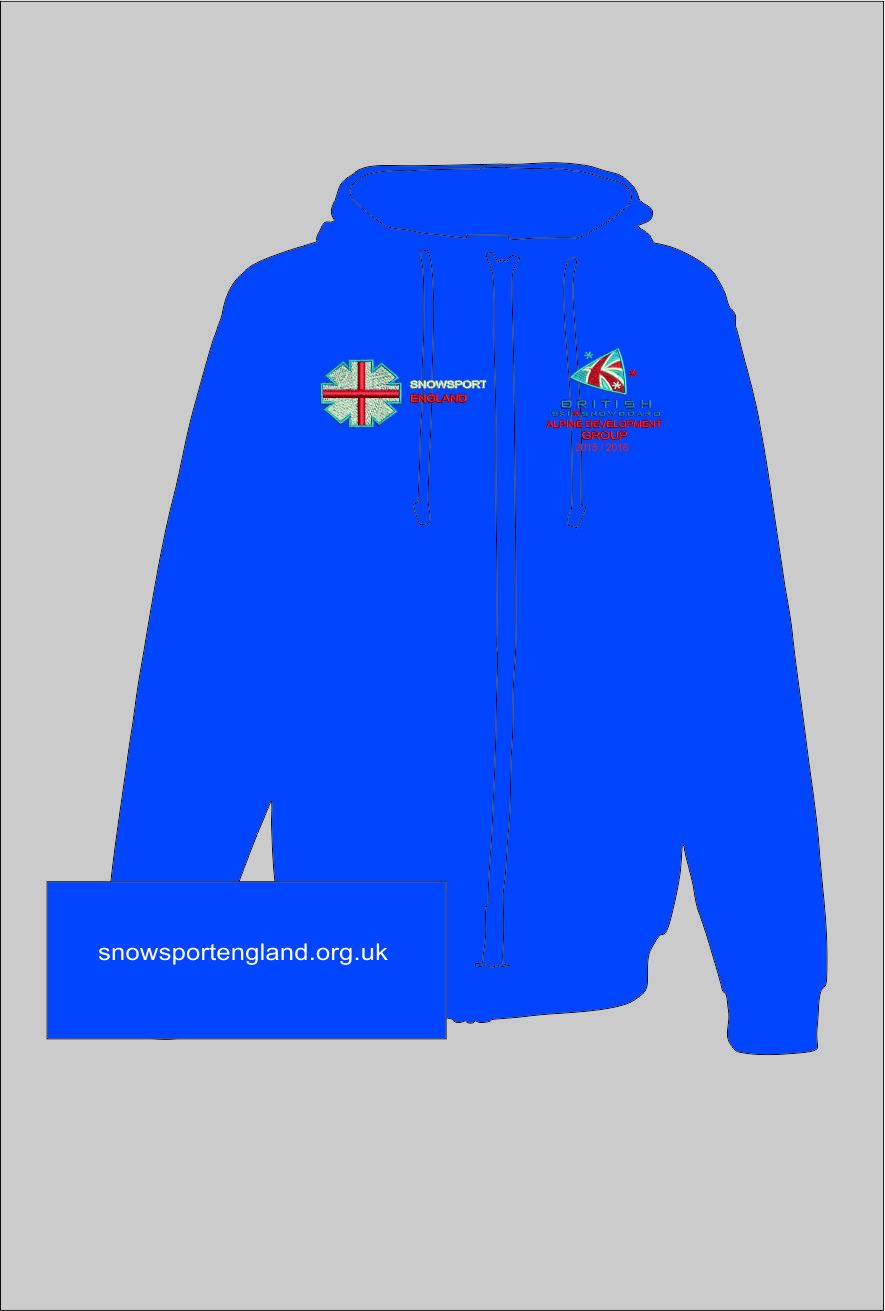 Zip Up Hoody (bss) Snowsport England