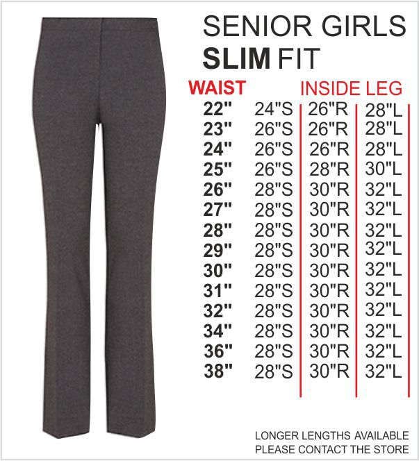 Senior Girls Slim Fit Trouser