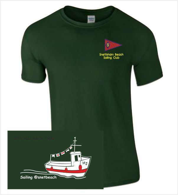 Snettisham Beach Sailing Club Green Tee
