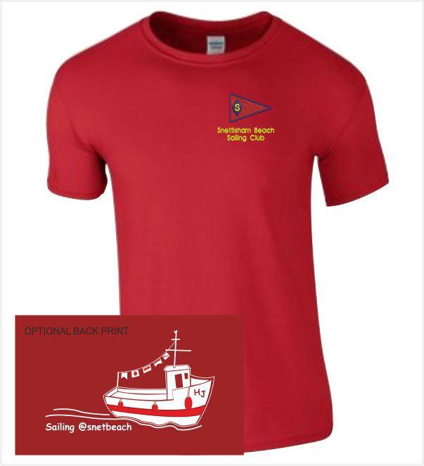 Snettisham Beach Sailing Club Red Tee