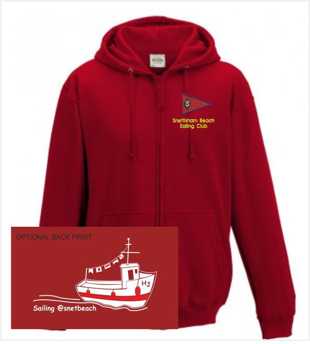 Snettisham Beach Sailing Club Red Hoodie