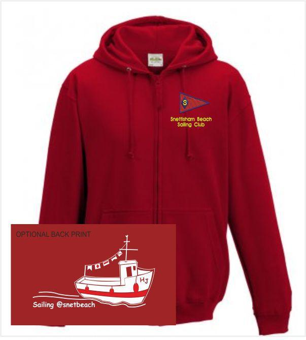 Snettisham Beach Sailing Club Red Hoodie