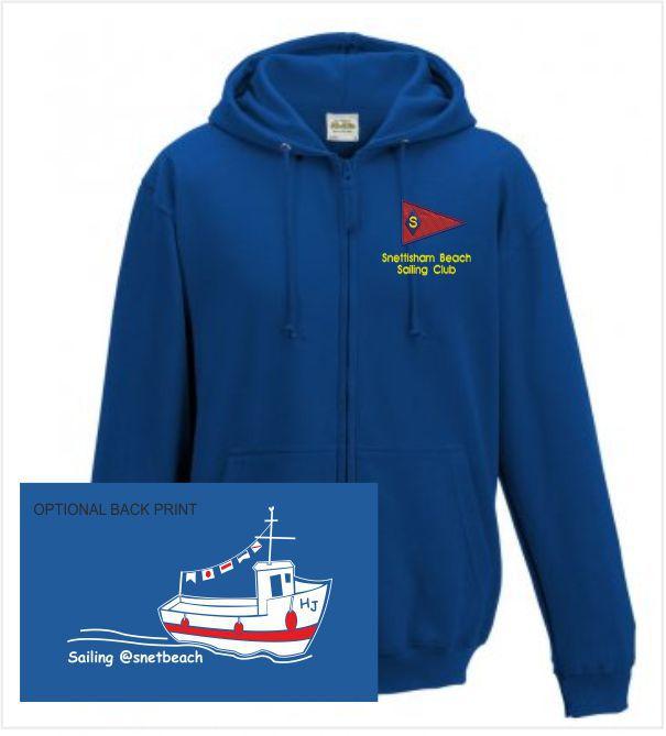 Snettisham Beach Sailing Club Royal Zip Up Hoody