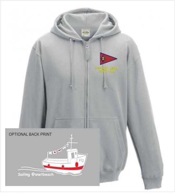 Snettisham Beach Sailing Club Grey Zip Up Hoody