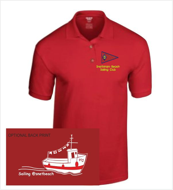 Snettisham Beach Sailing Club Polo Red