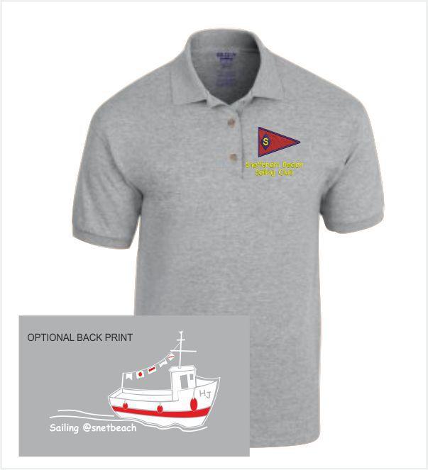 Snettisham Beach Sailing Club Grey Polo