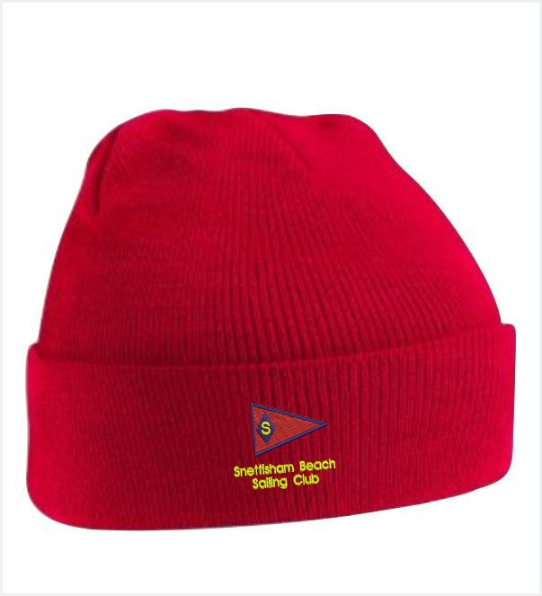 Snettisham Beach Sailing Club Red Beanie