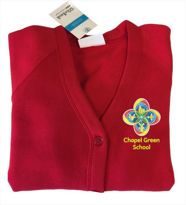 Chapel Green School Red Cardigan