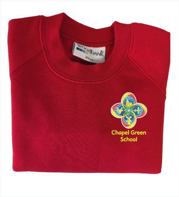Chapel Green School Red Sweatshirt
