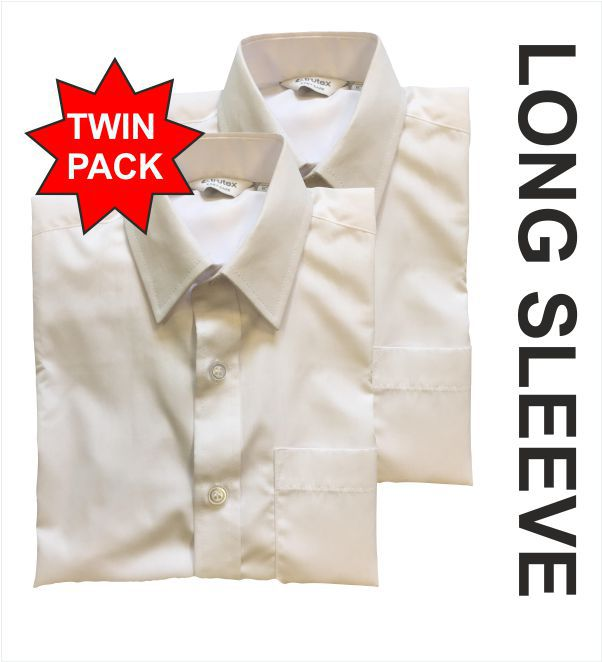 Ls White Twin Pack Shirt