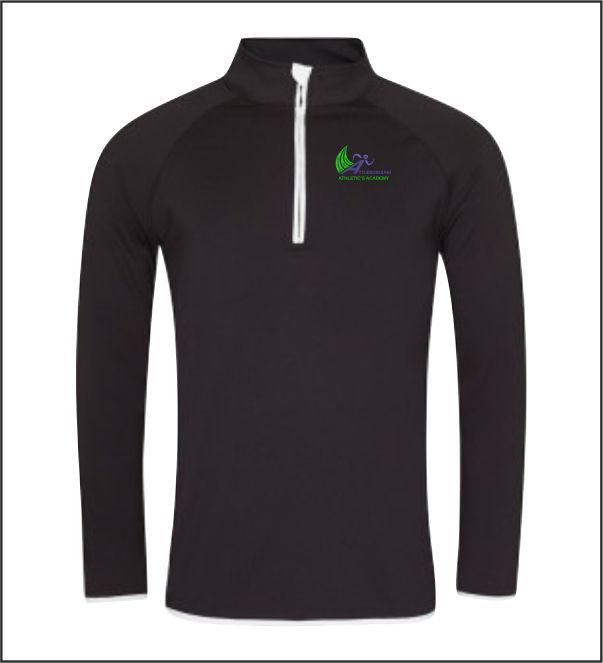 Mens Q Zip Top Front