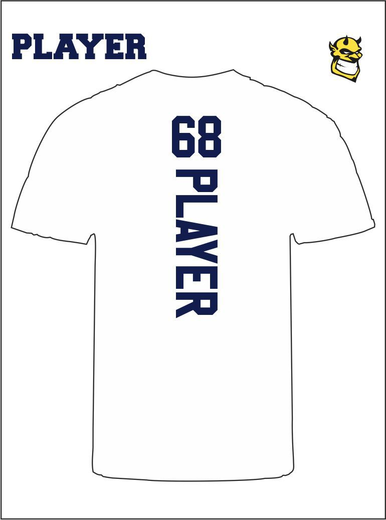 Player Tee Back White