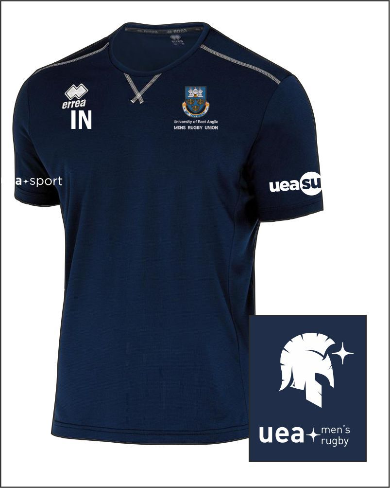 Training Tee Uea Mens Rugby Front