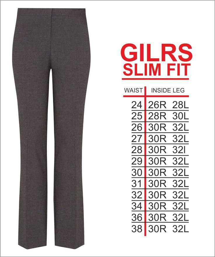 Girls Slim Trouser Grey