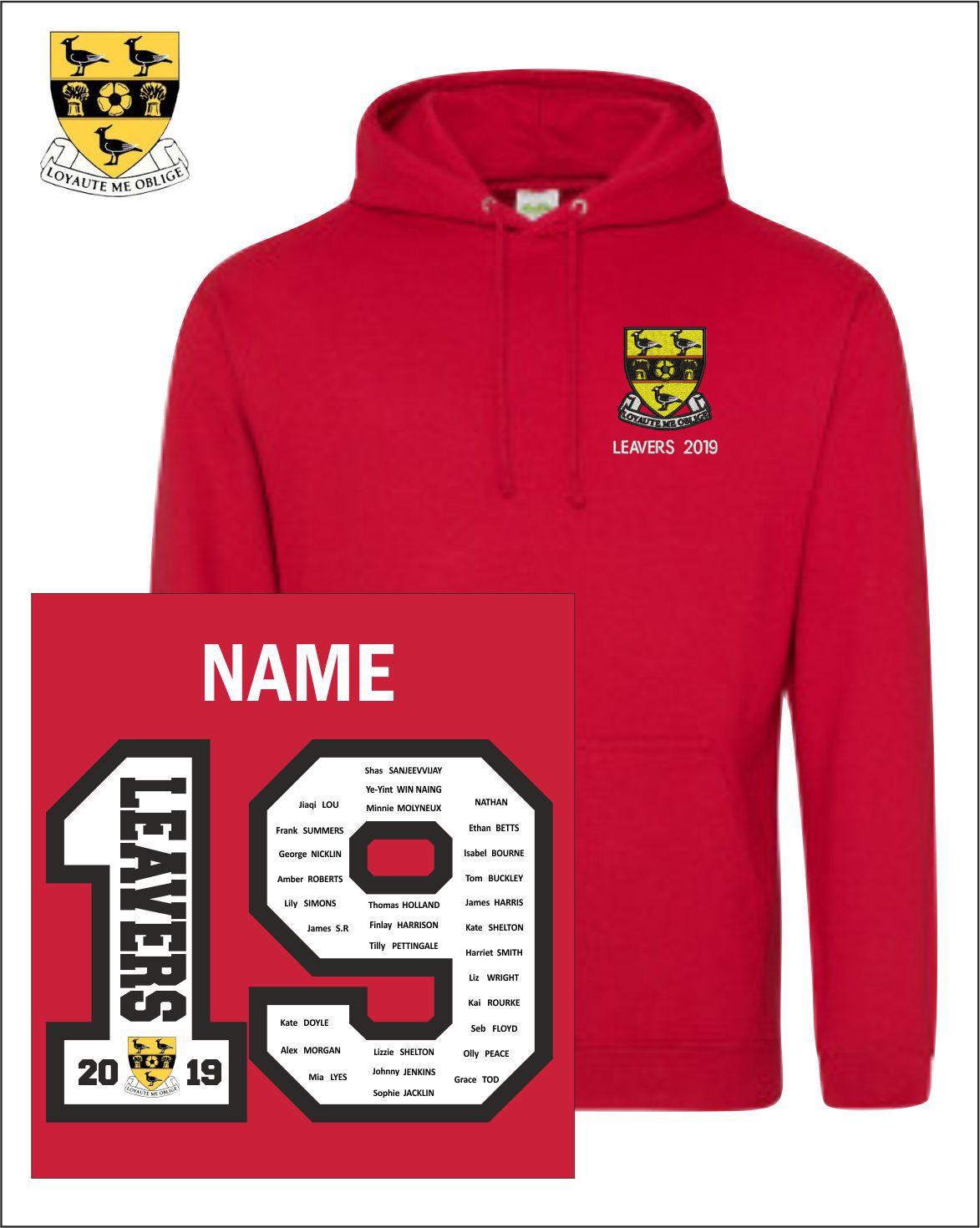 19 Red Hoody