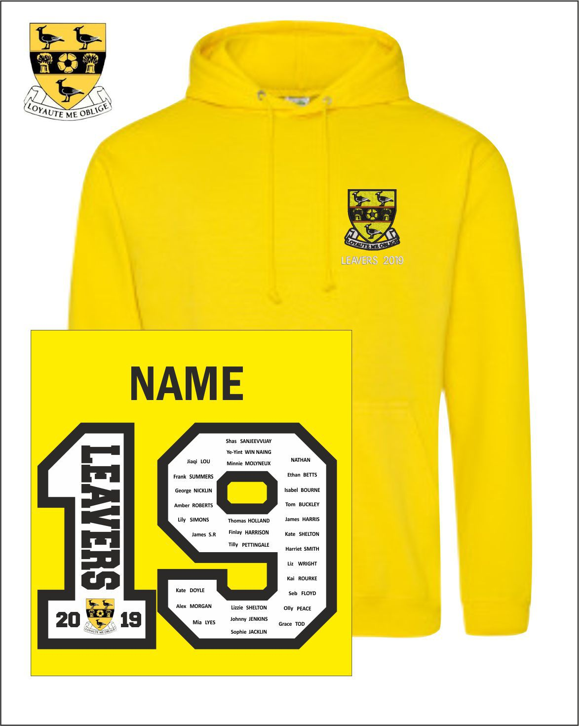 19 Yellow Hoody
