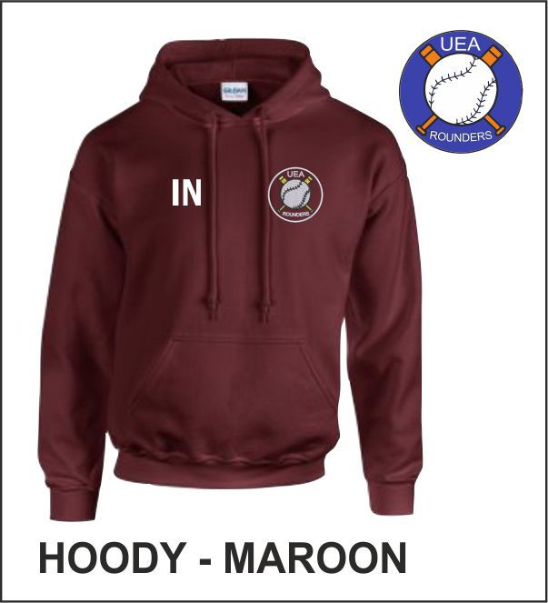 Maroon Hoody Front