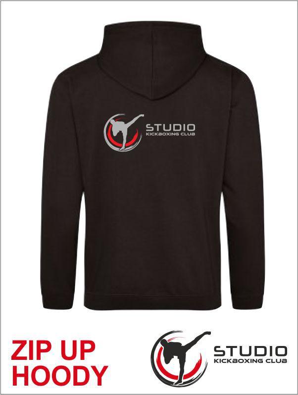 Zip Hoody Studio Black Back