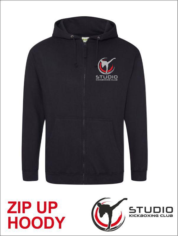 Zip Hoody Studio Black Front