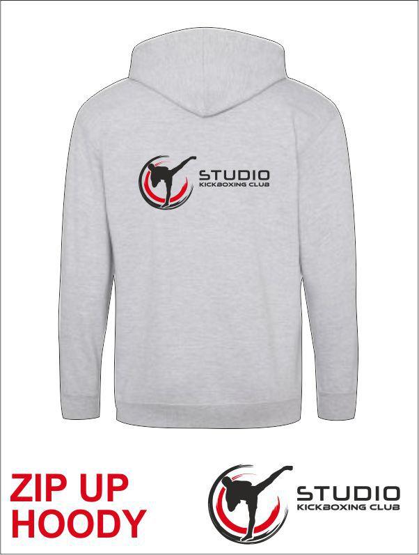 Zip Hoody Studio Grey Back