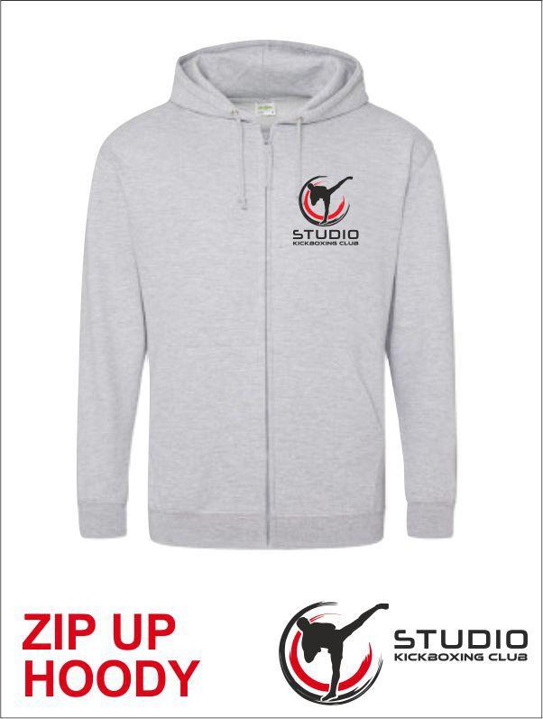 Zip Hoody Studio Grey Front