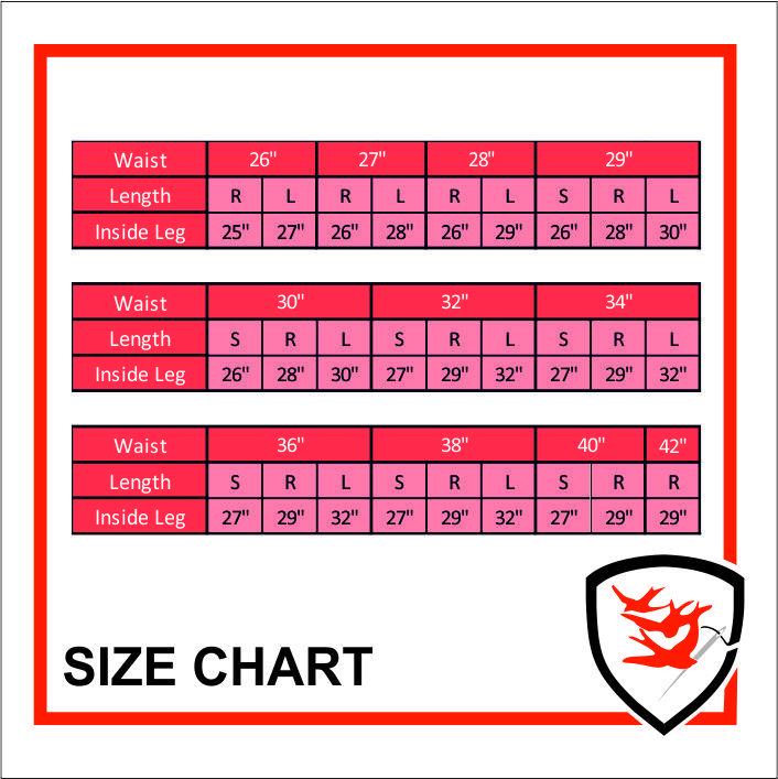 943 Size Chart
