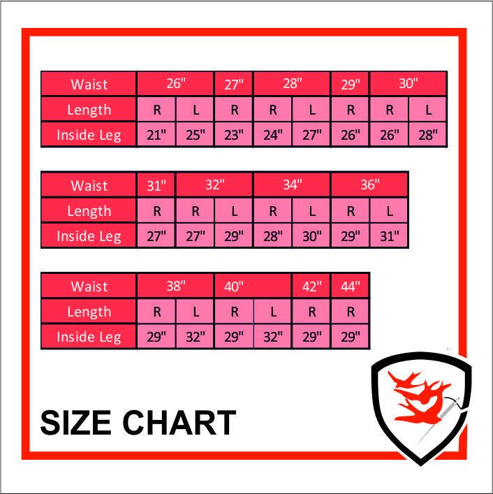 958S Size Chart