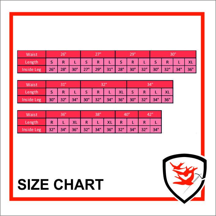 959 Size Chart