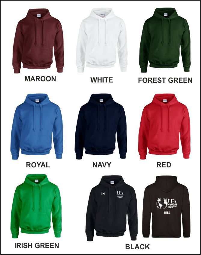 Hoody Colour Options