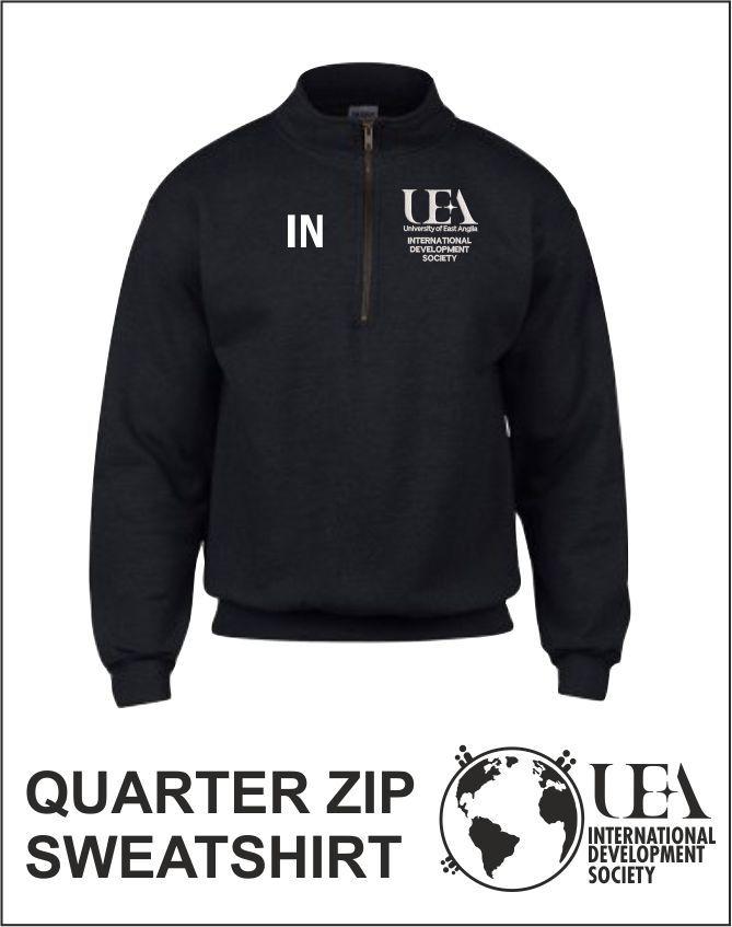 Quater Zip Sweatshirt Black