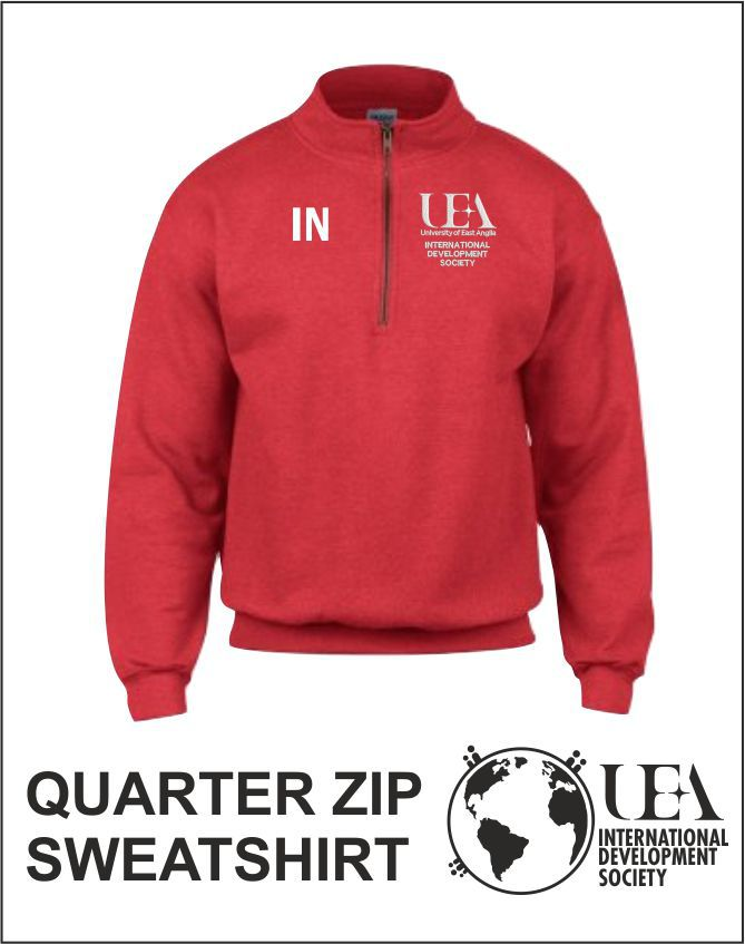 Quater Zip Sweatshirt Red