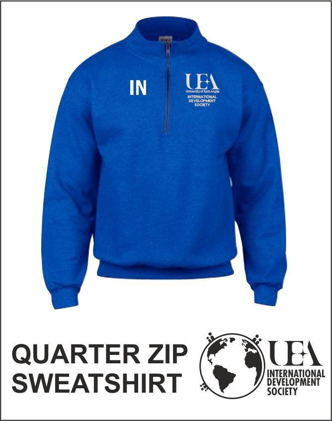 Quater Zip Sweatshirt Royal