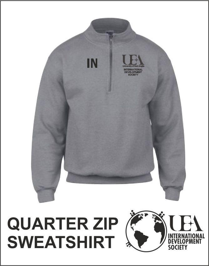 Quater Zip Sweatshirt Sports Grey