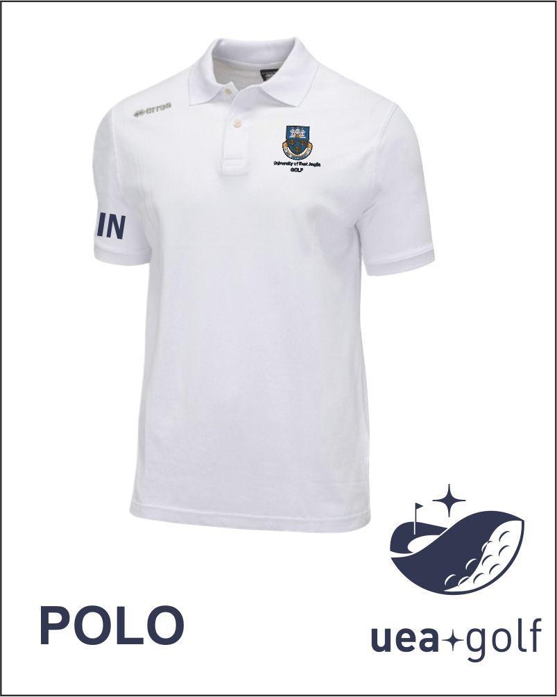 Uea Golf White Polo Shirt