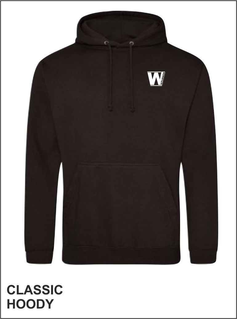 Classic Hoody Front Black