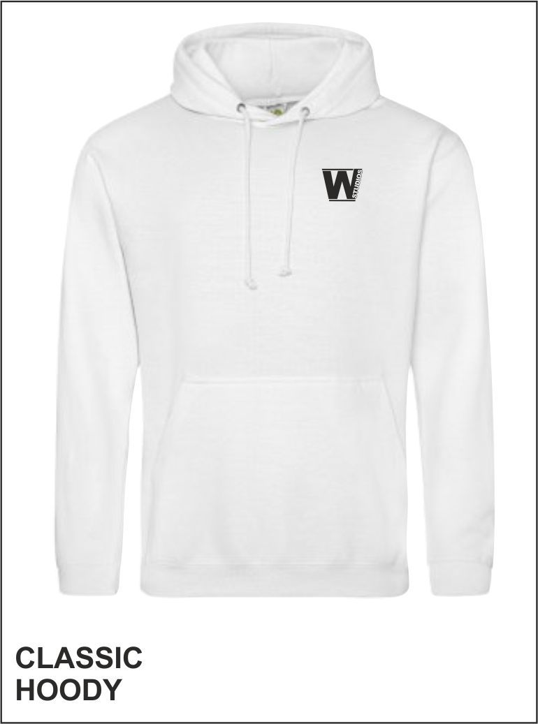 Classic Hoody Front White