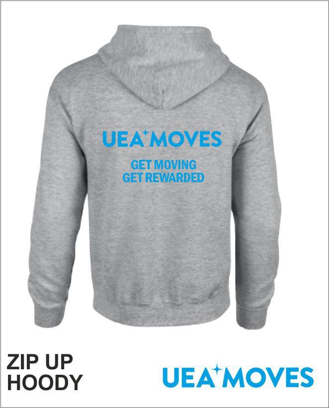Zip Up Hoody Grey Back