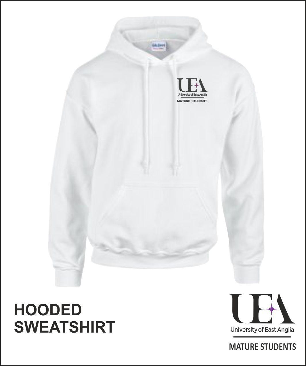Hooded Sweatshirt White Front