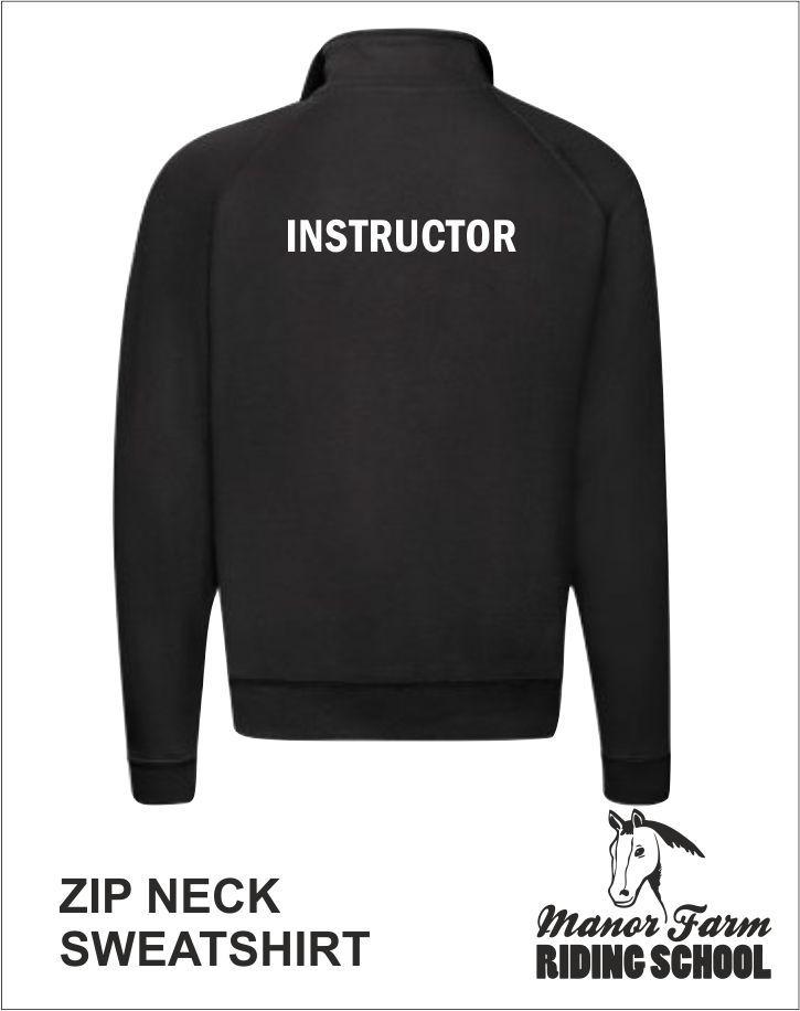 Zip Neck Sweatshirt Back Instructor