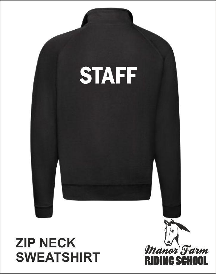 Zip Neck Sweatshirt Back Staff