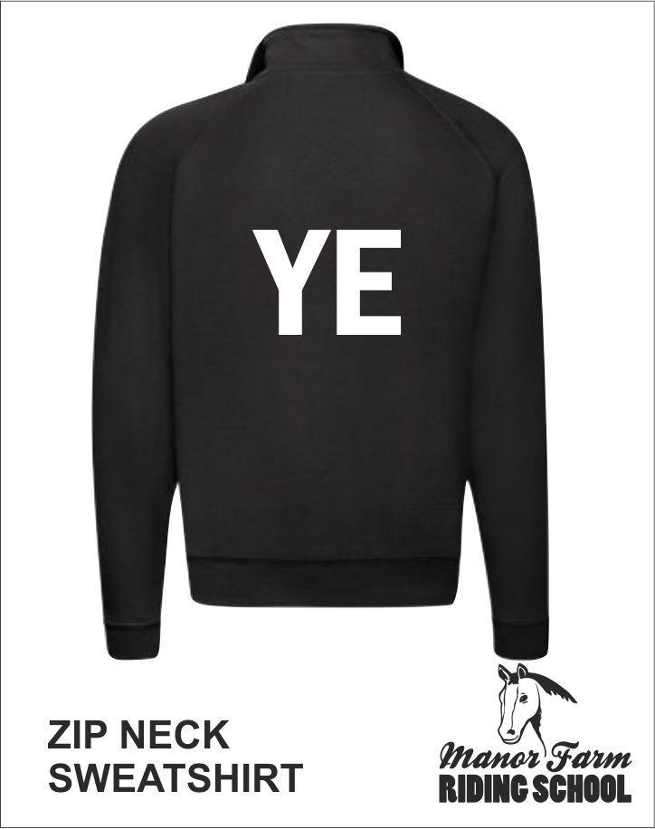 Zip Neck Sweatshirt Back Young Equestrian