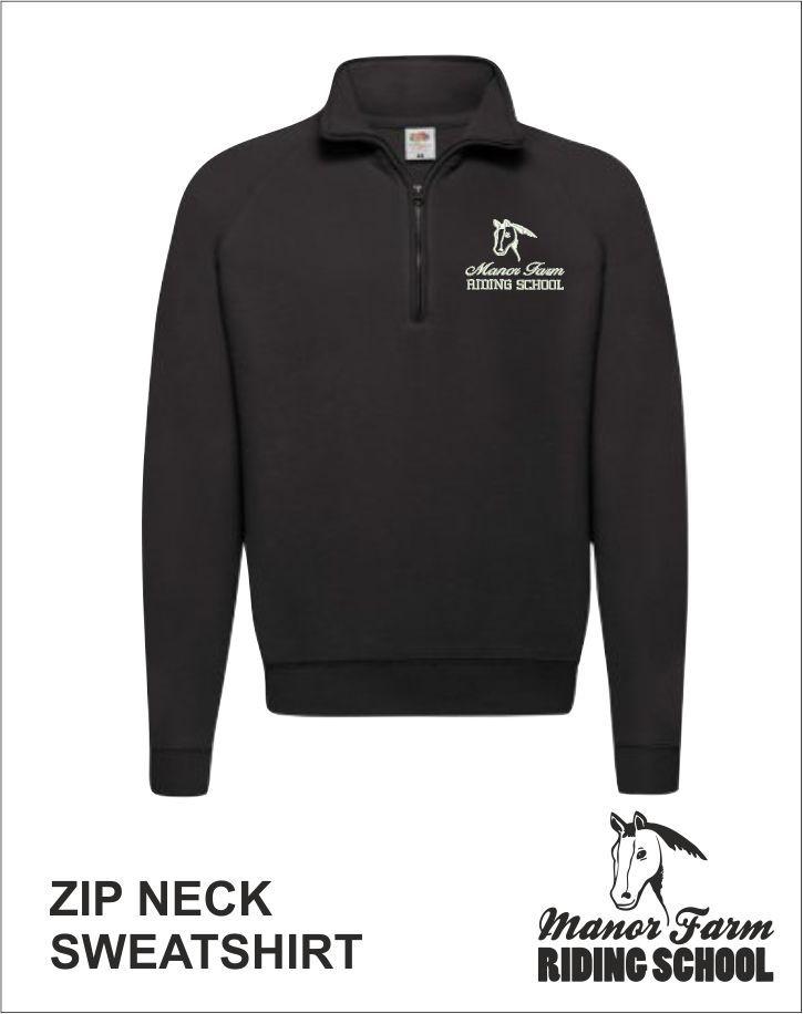 Zip Neck Sweatshirt Front