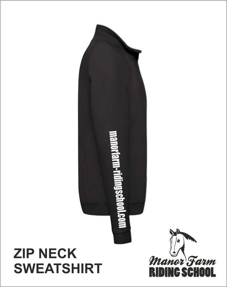 Zip Neck Sweatshirt Right Side