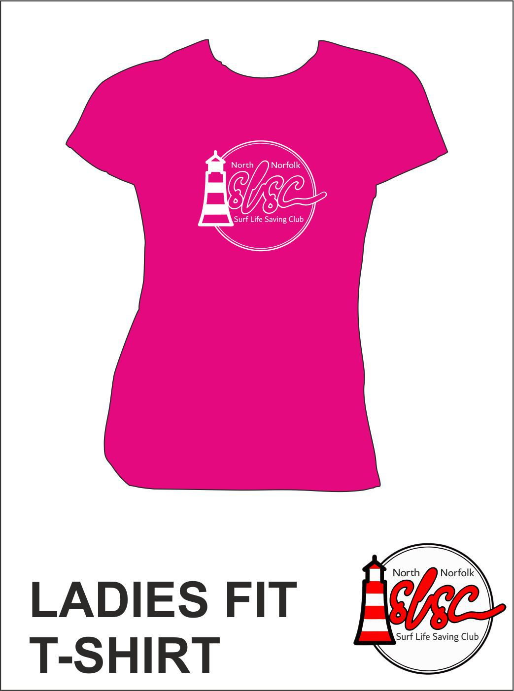 Ladies T Shirt Bright Pink